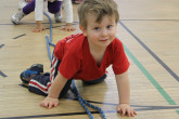 Happy toddlers playing during Sportball multi-sport class.